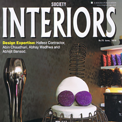 "ABHAY WADHWA – ""CREATIVE ILLUMINATION"" FEATURED IN SOCIETY INTERIORS"